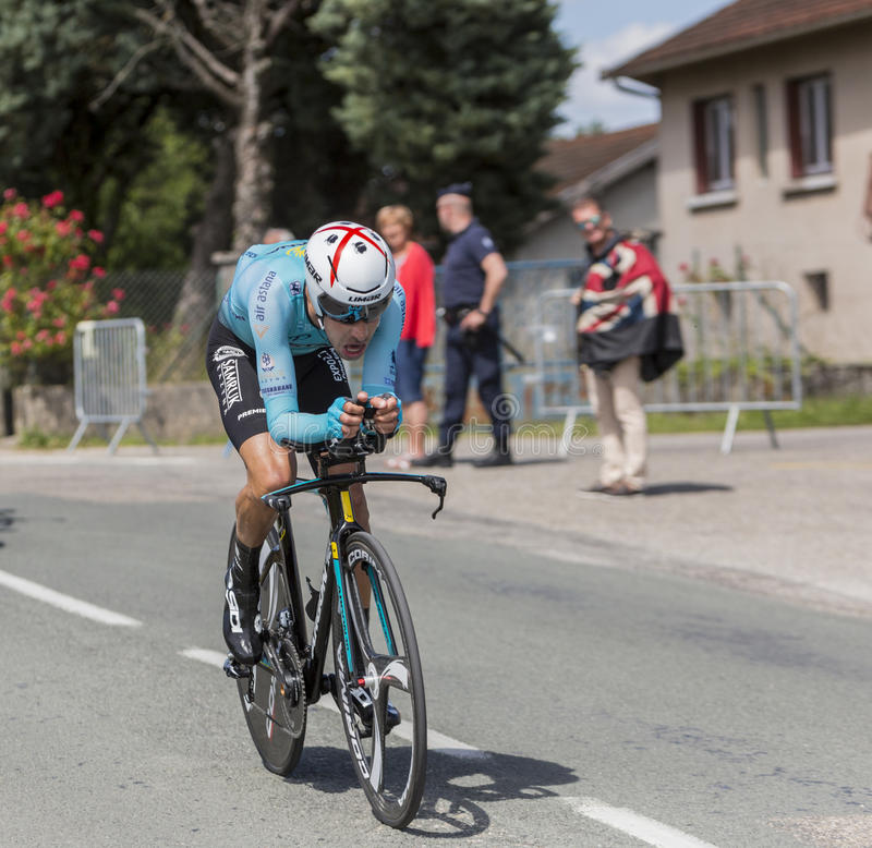 Велосипедист Fabio Aru - Критерий du Dauphine 2017 стоковые фотографии rf