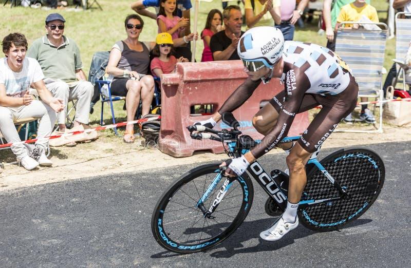 Велосипедист Mikael Cherel - Тур-де-Франс 2015 стоковые изображения rf