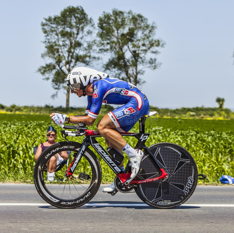 Велосипедист Pierrick Fedrigo Редакционное Фото