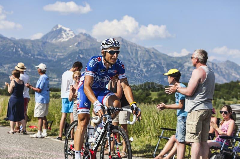 Велосипедист Pierrick Fedrigo стоковые фото