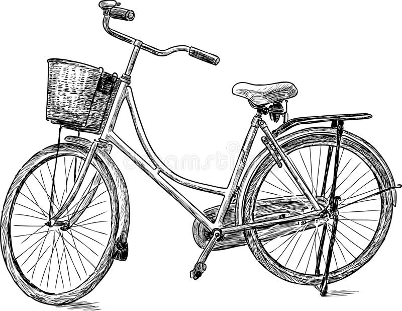 велосипед старый иллюстрация вектора