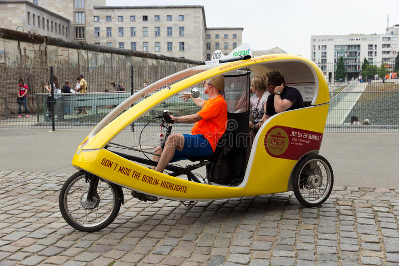 Велосипед такси Берлина стоковое изображение