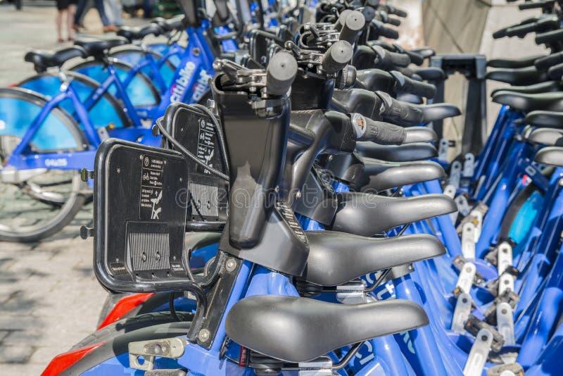 Велосипеды Нью-Йорка стоковые фотографии rf