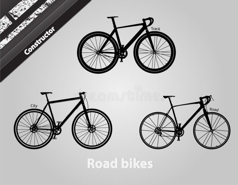 Велосипеды дороги иллюстрация вектора