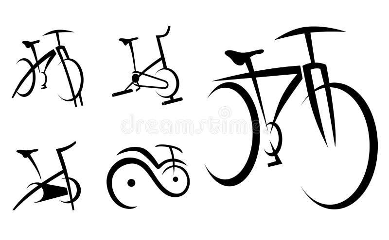 Велотренажер, цикл, оборудование здоровья иллюстрация вектора