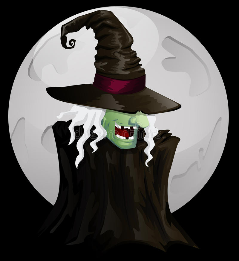 Ведьма хеллоуина иллюстрация штока