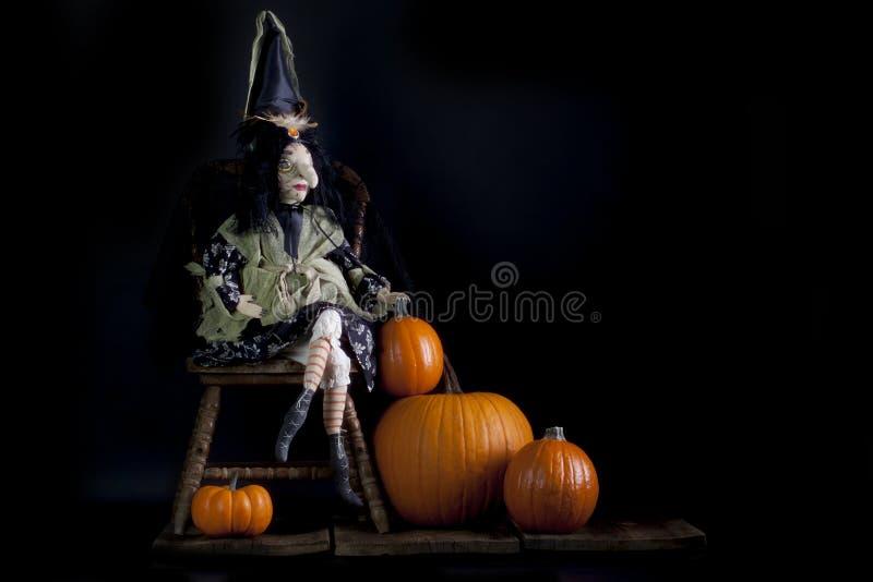 Ведьма цыганина хеллоуина стоковая фотография