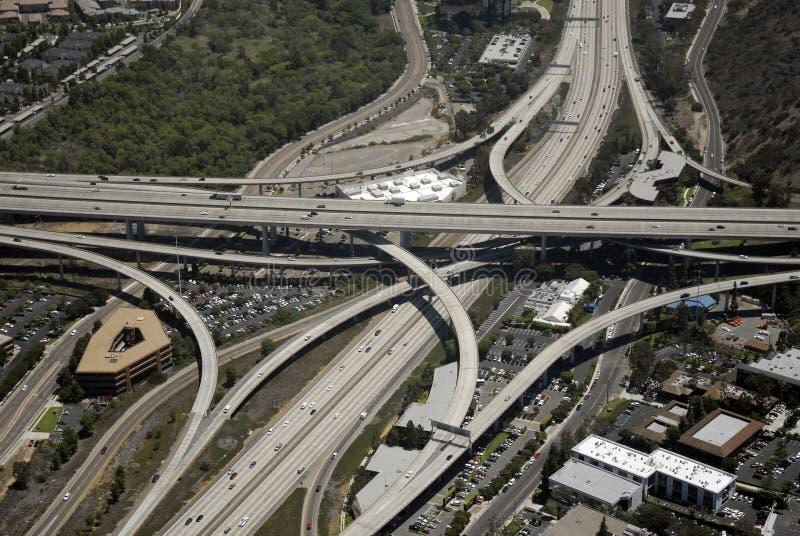 взаимообмен скоростного шоссе california южный стоковое фото