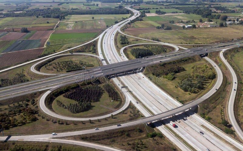 Взаимообмен шоссе стоковое фото rf