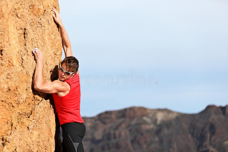 взбираться альпиниста стоковое фото rf