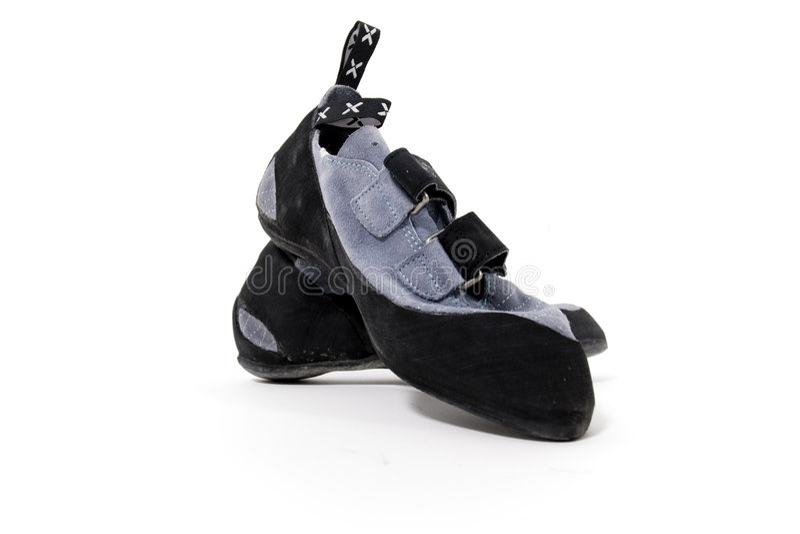 взбираясь ботинки стоковое изображение rf