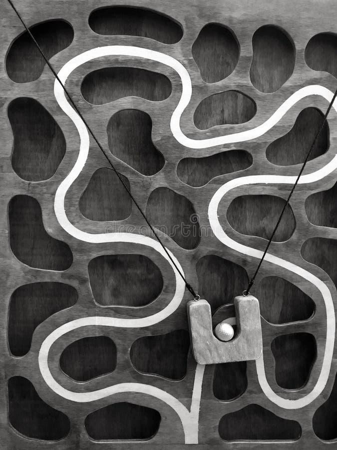 Взбираясь игра лабиринта вращающееся кольцо стоковая фотография