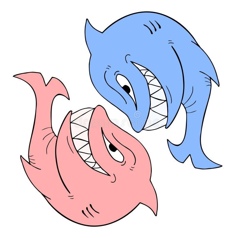 Взбунтованная акула бесплатная иллюстрация