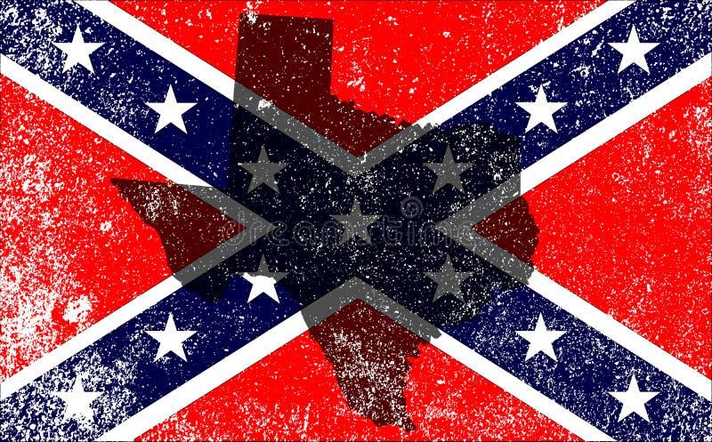 Взбунтованная карта Техаса флага гражданской войны бесплатная иллюстрация