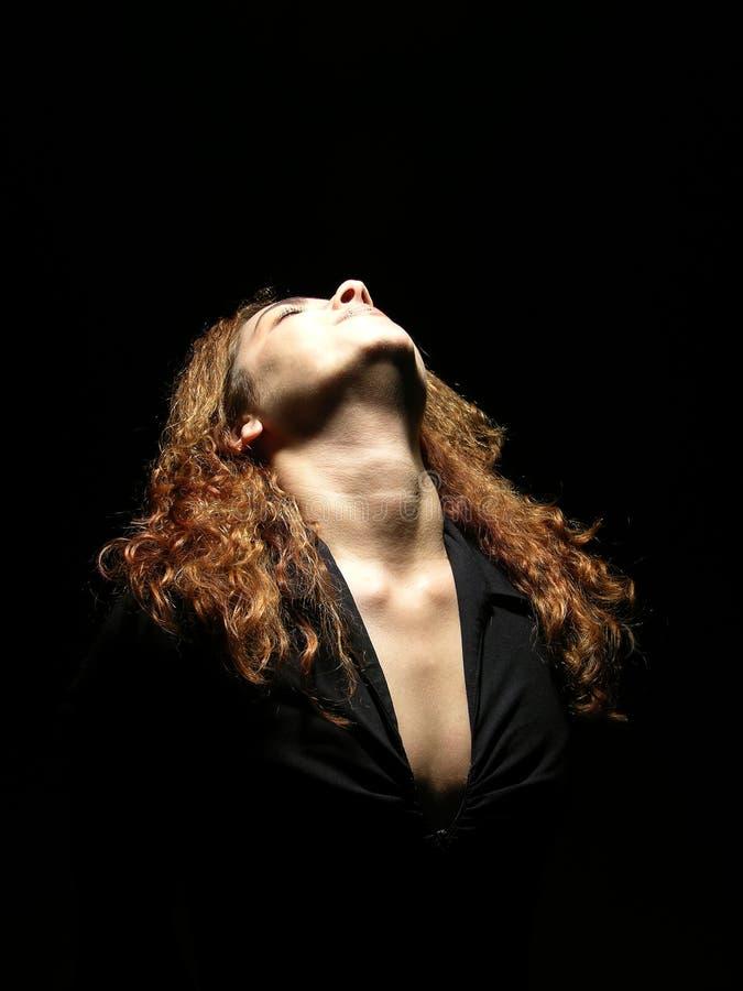 Download взволнованности ее женщина стоковое фото. изображение насчитывающей волосы - 91332