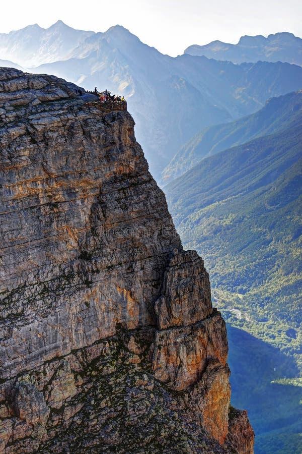 Взгляды долины Ordesa стоковое фото