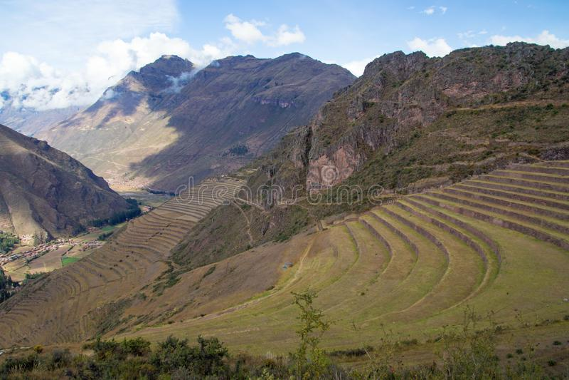 Взгляды ландшафта в священной долине Перу стоковое изображение rf