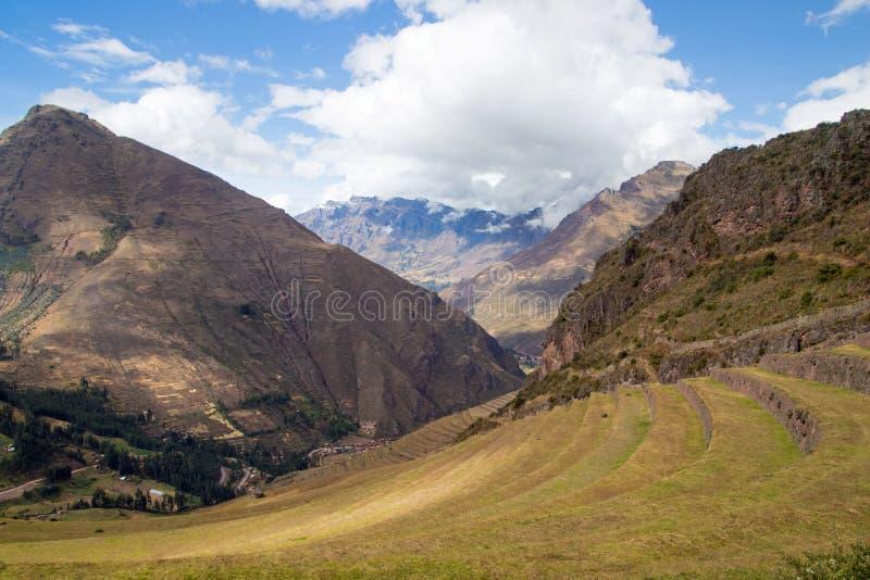 Взгляды ландшафта в священной долине Перу стоковая фотография rf