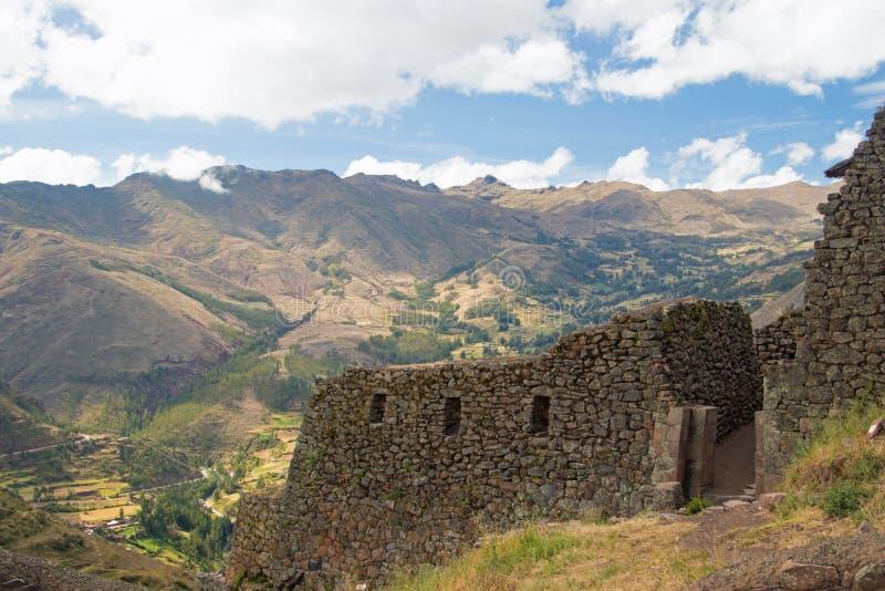 Взгляды ландшафта в священной долине Перу стоковое фото