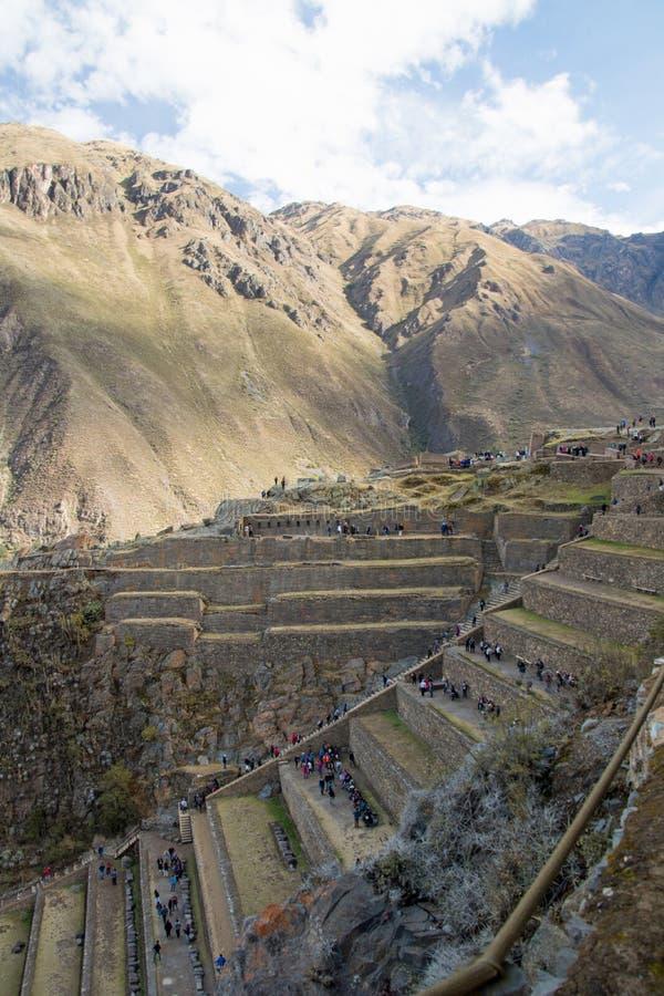 Взгляды ландшафта в священной долине Перу стоковое фото rf