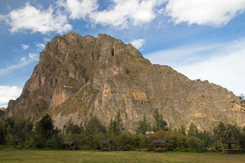 Взгляды ландшафта в священной долине Перу стоковые фотографии rf