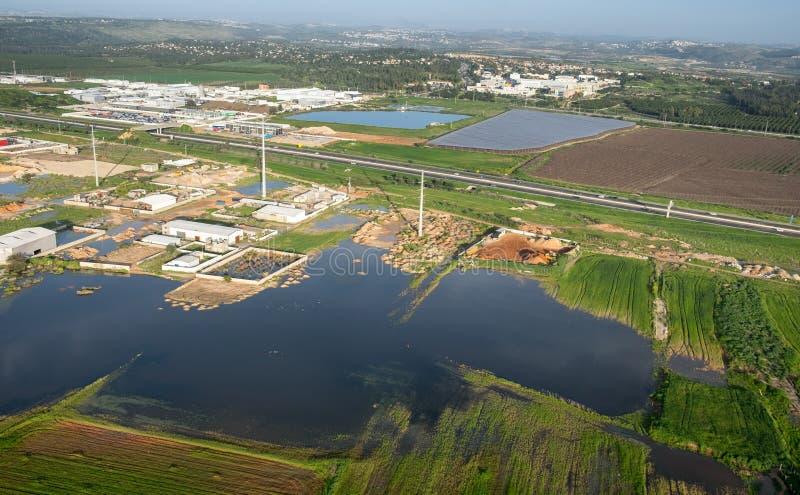 Взгляд антенны или птицы на шоссе Транс-Израиля стоковая фотография rf