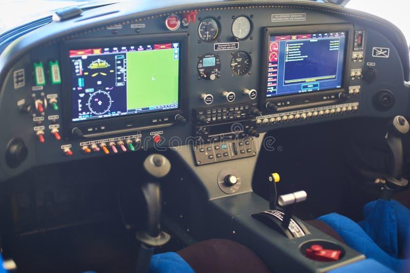 Взгляд арены малого частного самолета стоковое фото rf