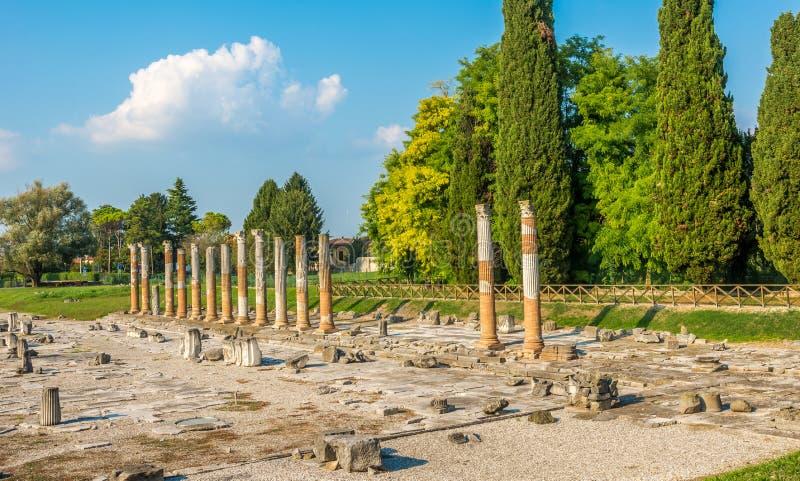 Взгляд археологической зоны Aquileia в Италии стоковые изображения