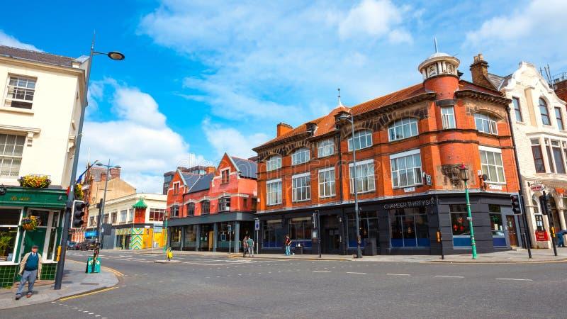 Взгляд архитектуры и здания центра города Ливерпуля стоковые фотографии rf