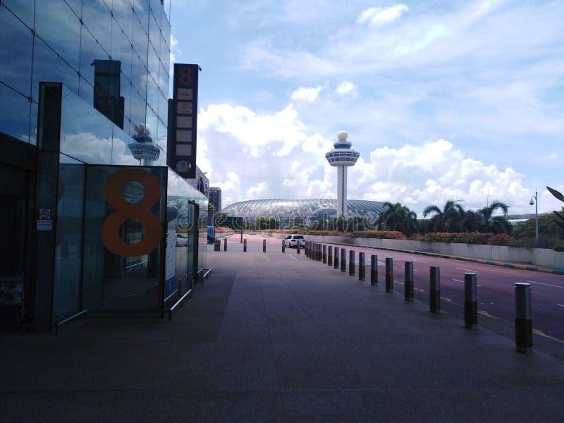 Взгляд аэропорта Changi драгоценности от терминала 3 стоковые фотографии rf