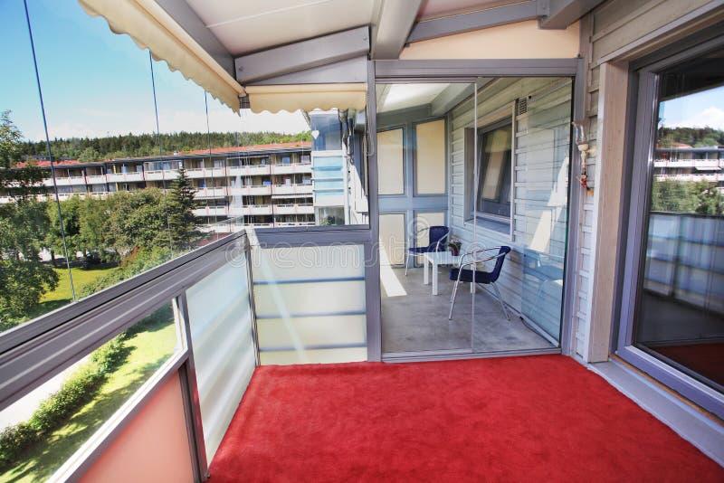 взгляд балкона квартиры стоковые изображения
