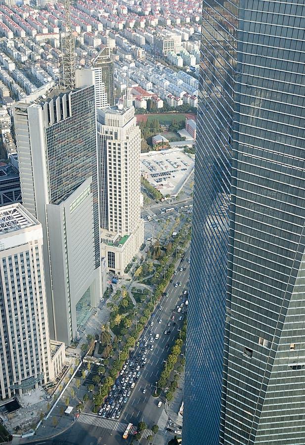 взгляд башни jin mao shanghai стоковое фото rf