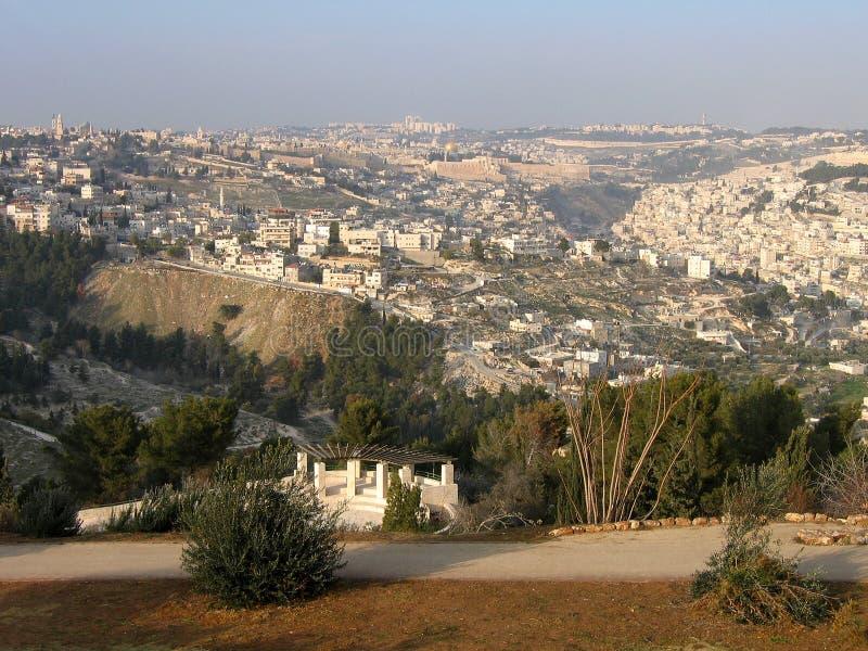 взгляд бдительности Иерусалима города стоковое фото