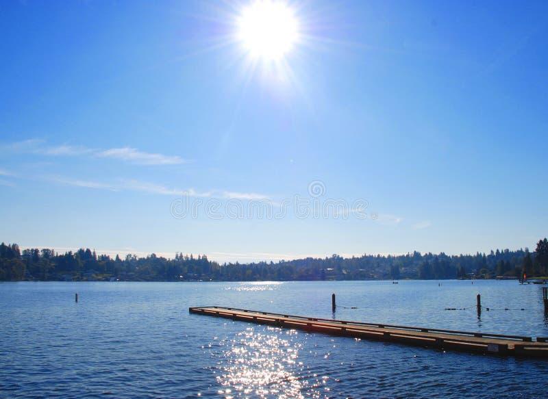 взгляд берега озера стоковые фотографии rf