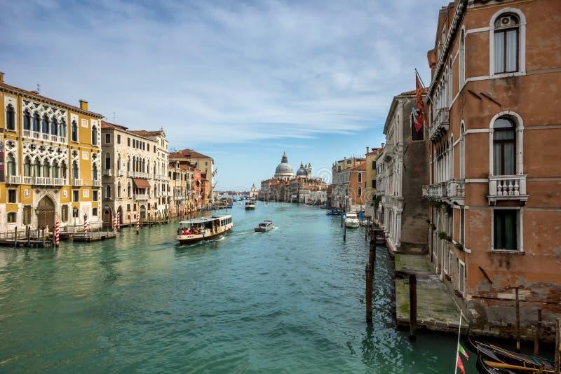 Взгляд большого канала в Венеции стоковые изображения