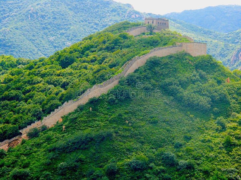 Взгляд Великой Китайской Стены Китая стоковые фотографии rf