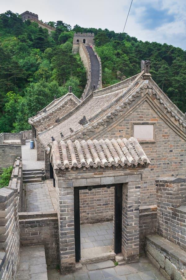 Взгляд Великой Китайской Стены Китая стоковая фотография rf