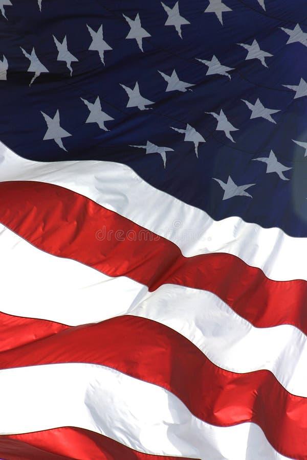 взгляд вертикали американского флага стоковые фотографии rf