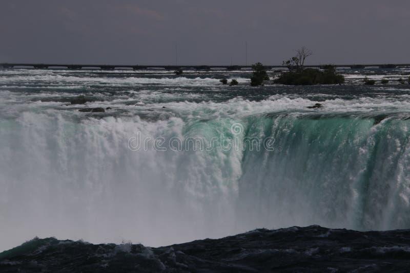 Взгляд верхней части Ниагарского Водопада стоковые изображения