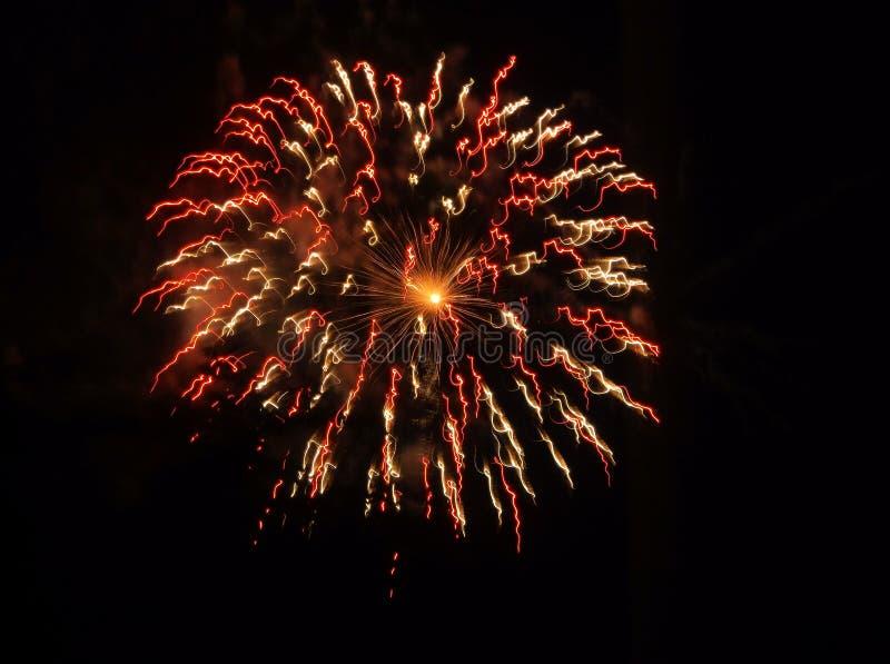Взгляд взрыва фейерверков стоковые фото