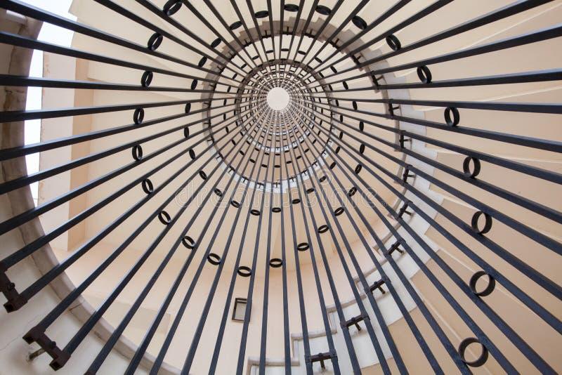 Взгляд винтовой лестницы безграничность стоковое изображение