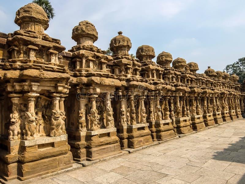 Взгляд виска Kailasanathar в Kanchipuram, Индии стоковые фотографии rf
