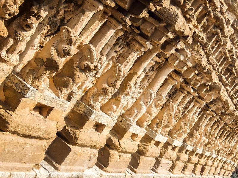 Взгляд виска Kailasanathar в Kanchipuram, Индии стоковая фотография rf