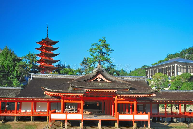 взгляд виска pagoda зодчества передний стоковое фото rf