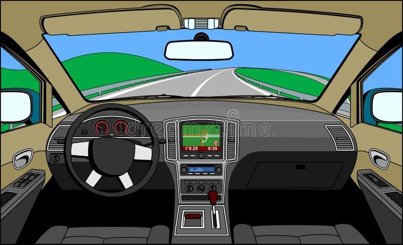 Download взгляд водителя иллюстрация вектора. иллюстрации насчитывающей езда - 18383169