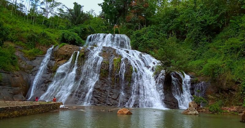 Взгляд водопадов стоковое фото rf