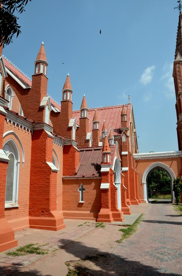 Взгляд восстановленного St Mary собор Multan Пакистан церков девственницы стоковые фото