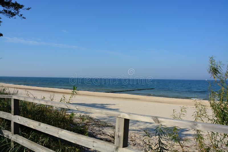 Взгляд восхитительного пляжа стоковые фото