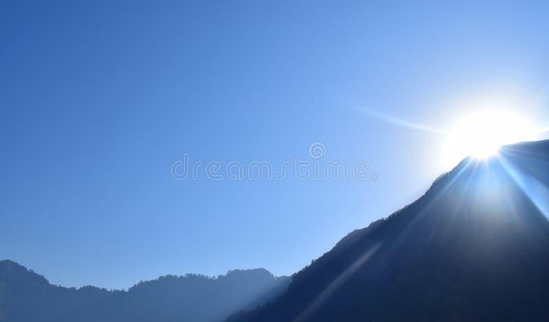 взгляд восхода солнца skrzyczne Польши 1257 высокий гор горы метров стоковое фото rf