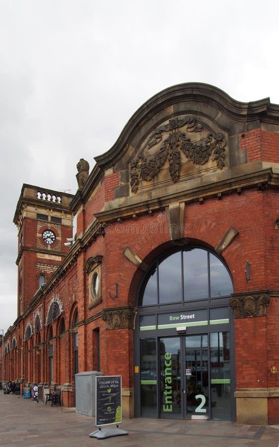 Взгляд вход к зале рынка ashton исторической построенной в 1829 стоковое изображение rf